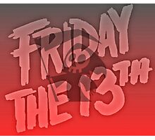 Grim Reaper Friday The 13th Photographic Print