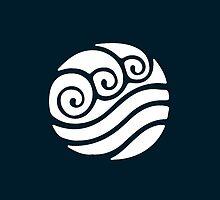 White Waterbending Emblem by nachophile