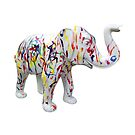Mali (finger painted-white) by Glenn Bumford