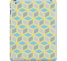 Tumbling Blocks, Yellow/Blue iPad Case/Skin