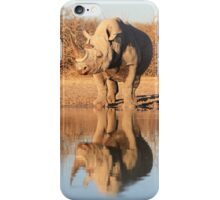 Black Rhino - Reflection of Power - African Wildlife  iPhone Case/Skin
