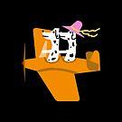 Airplane and Dalmatians Throw Pillows, Tote Bag Black by Vitta