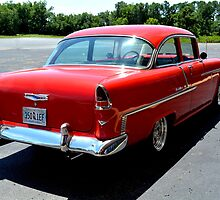 1955 CHEVY REAR VIEW by A1ART