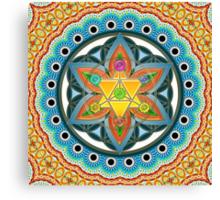 Merkaba, Chakras, Flower Of Life, Metatrons Cube, Sacred Geometry Canvas Print
