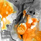 Orange Abstract Art - Iced Tangerine - By Sharon Cummings by Sharon Cummings