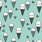 Ice Cream Cones - Mint by Andrea Lauren by Andrea Lauren