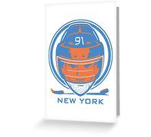 New York Hockey T-Shirt Greeting Card