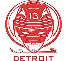 Detroit Hockey T-Shirt Photographic Print