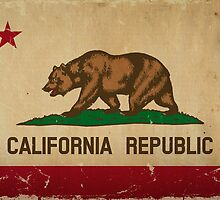 California State Flage VINTAGE by Carolina Swagger