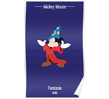 Fantasia Mickey Illustration Poster