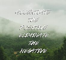 Accentuate the Positive, Eliminate the Negative by sheelight