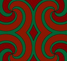 Red, Orange and Green Swirls by melangetulsa