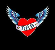 Classic Dad tattoo design by lvida