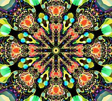 Colourful Pattern in a Kaleidoscope by walstraasart