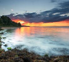 Isle Of Wight Sunset by manateevoyager