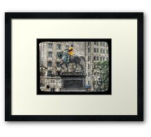 The Black Prince does Le Tour!  Framed Print