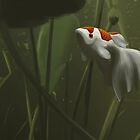 Koi Pond by cdlillustration