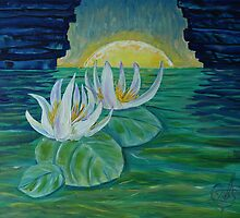 Oil Painting  - Water Lilies. 2012 by Igor Pozdnyakov