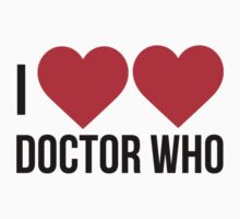 I Heart Heart Doctor Who by FANmerch