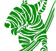 Zebra EBT Green and White  by Sookiesooker