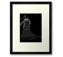WICKED Musical Elphaba Framed Print