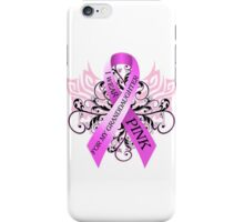 I Wear Pink For My Granddaughter (w) iPhone Case/Skin