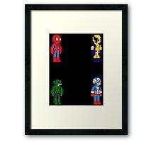 Marvel Pixel Heroes 2! Framed Print
