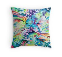 Parts of Reality Were Missing, But Which Parts? - Watercolor Painting Throw Pillow