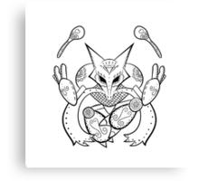 Alakazam de los Muertos | Pokemon & Day of The Dead Mashup Canvas Print
