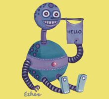 """The Robot That Says """"Hello"""" by JimEther"""