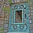 Beautiful Wrought Iron Window At Kykuit by Jane Neill-Hancock