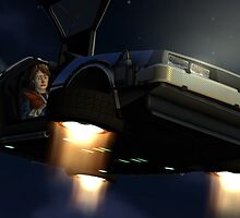 Back to the future - Delorean by SergioRintaro