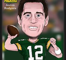 Aaron Rodgers - Green Bay Packers - NFL Caricature by monkeycircusart