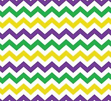 Mardi Gras Chevron Pattern by StudioBlack