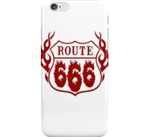 Route 666 design in red iPhone Case/Skin