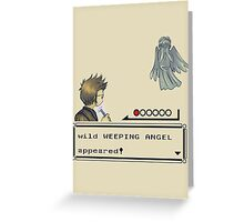 Weeping Angel Appeared! Greeting Card