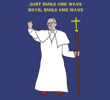 Pope smile and wave by Ednathum