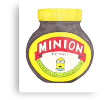 Minion Marmite Metal Print