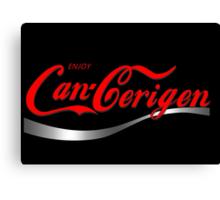 Enjoy Can-Cerigen - black Canvas Print
