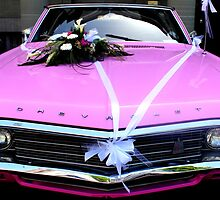 A pink Chevrolet bridal car by Michelle Neeling