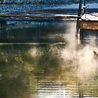 Mist off the dock  by KSKphotography