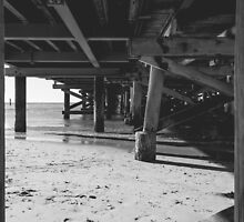 under the pier by Anja Fuechtbauer