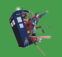 Heroes in the Tardis Kids Clothes
