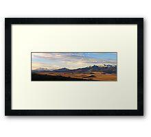 Valley Shadows Snowy Peaks Framed Print