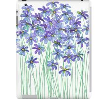 Purple Daisies in Watercolor & Colored Pencil  iPad Case/Skin