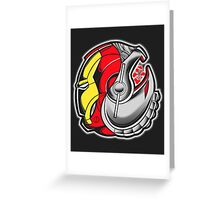 Ironman/Ultron Yin Yang Greeting Card