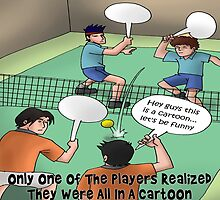 Sort Of A Tennis Cartoon by Rick  London
