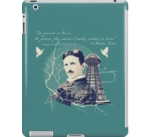 Nikola Tesla - with Quote  iPad Case/Skin