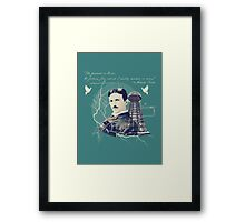 Nikola Tesla - with Quote  Framed Print