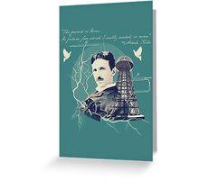 Nikola Tesla - with Quote  Greeting Card